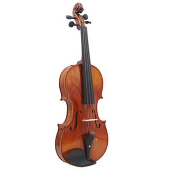 奇宝居巴伊オリン児童初学成人演奏試験級練習通用実木入門級バーイオリン楽器タイガーライト1/8琴高43 cm(4-5歳向け)